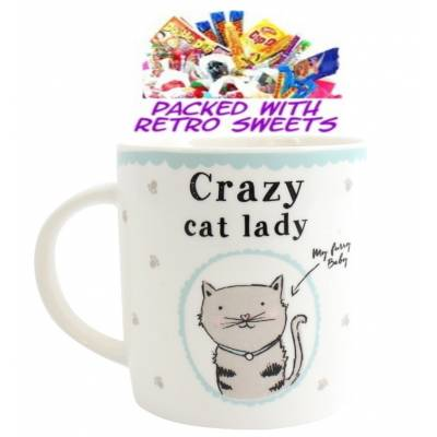 Crazy Cat Lady Cuppa Sweets - Sweets Gifts