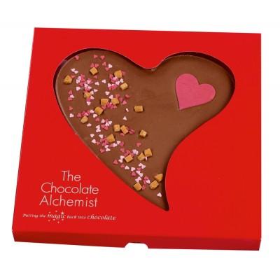 Milk Chocolate Curvy Heart
