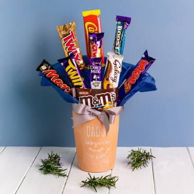 Dads Herb Garden Chocolate Vase Bouquet