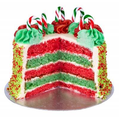 Candy Cane Christmas Cake