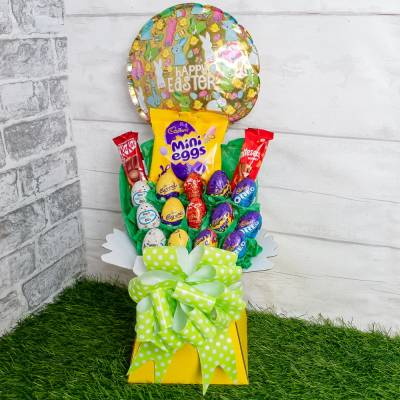 Easter Egg Chocolate and Balloon Bouquet