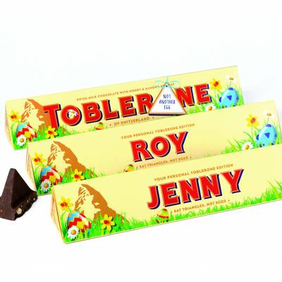 Personalised Easter Toblerone Bar