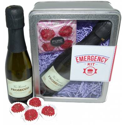 Emergency Prosecco and Chocolates Tin