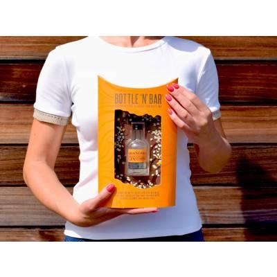 Bottle & Bar With Orange Gin