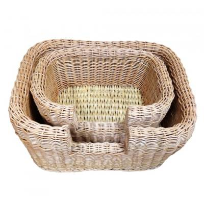Small Wicker Winston Dog Bed