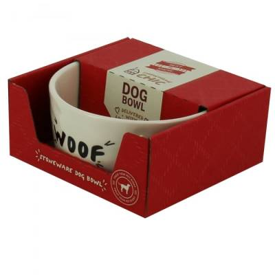 Best in Show ''Woof'' Dog Bowl