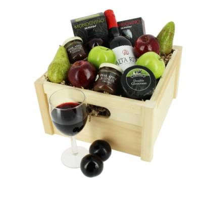 Luxury Wine & Cheese Crate