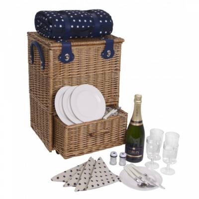4 Person Deluxe Picnic Trolley - Picnic Gifts