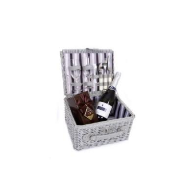 Silver Sparkling Picnic Basket