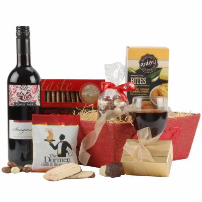 The Red Wine and Sumptuous Treats Hamper