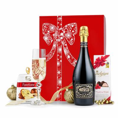 Prosecco Panettone and Chocolates Gift - Chocolates Gifts