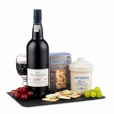 Port, Blue Stilton and Crackers Gift - Port Gifts