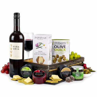 Cheese and Red Wine Hamper - Hamper Gifts