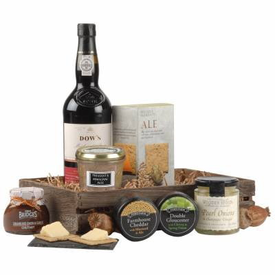 Luxury Port, Pate and Cheese Hamper