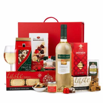 The Rejoice White Wine Christmas Hamper