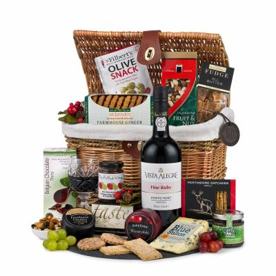 The Festive Cheese and Port Hamper