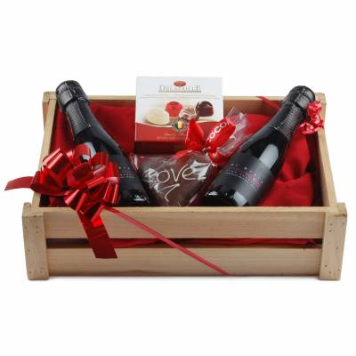Cupids Sparkling Wine and Chocolate Valentines Hamper