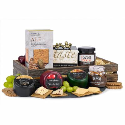 The Cheese and Nibbles Trio Hamper