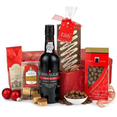 Christmas Port and Chocolates Hamper