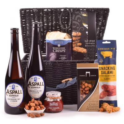 Cider and Gourmet Bar Snacks Hamper - Gourmet Gifts