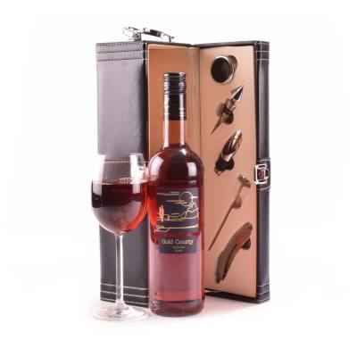 Rose Wine Lovers Gift Case