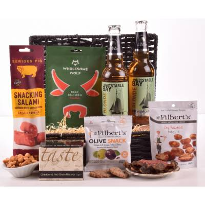 Lager and Bar Snacks Hamper