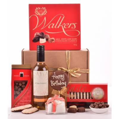 Happy Birthday Wine and Treats Hamper