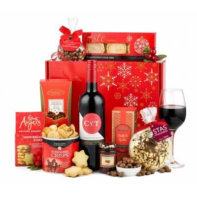 The Rejoice Red Wine Christmas Hamper