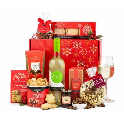 The Rejoice White Wine Christmas Hamper