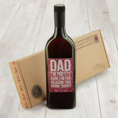 Letterbox Wine Gift - Tempranillo - Dad!