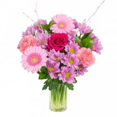 """Cerise"" Fresh Floral Bouquet"