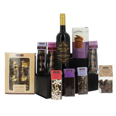 Luxury Chocolate Hamper with Wine