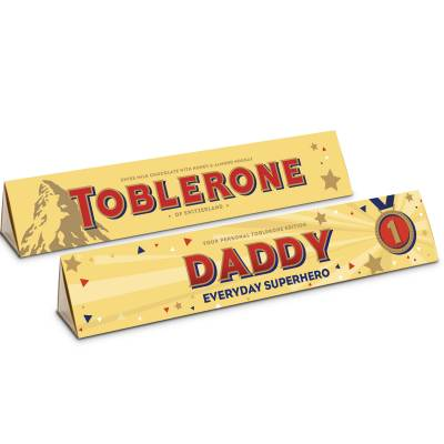 Personalised Fathers Day Toblerone Bar