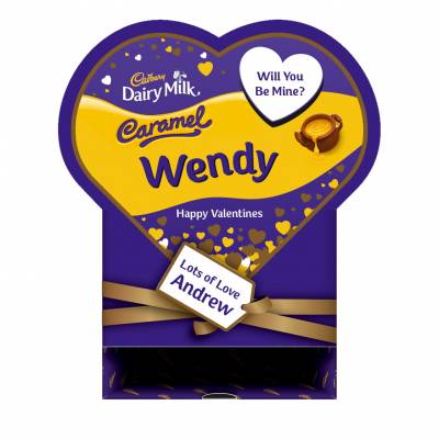 Personalised Valentines Box Of Cadbury Caramel