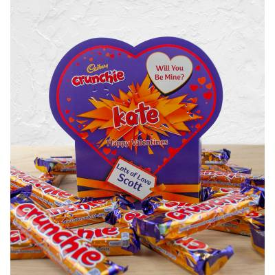 Personalised Valentines Box Of Cadbury Crunchie