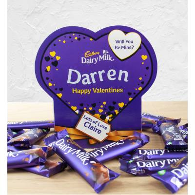Personalised Valentines Box Of Cadbury Dairy Milk