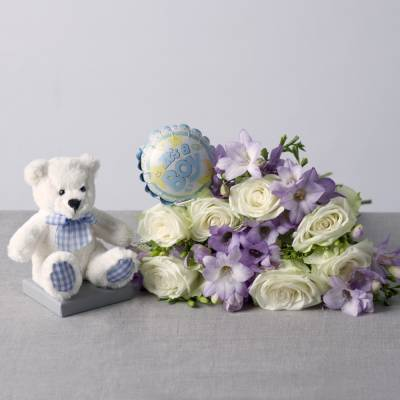 Baby Boy Flower Gift - Baby Boy Gifts
