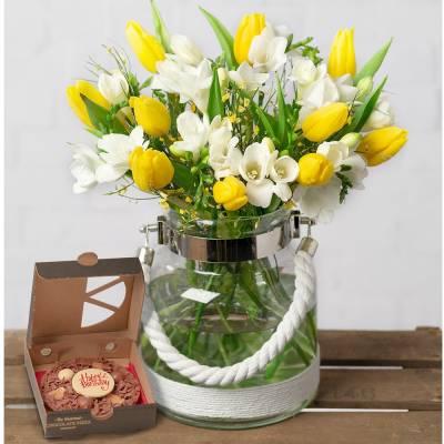 Freesias & Tulips Birthday Gift