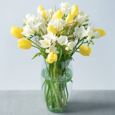 Freesias and Tulips Large