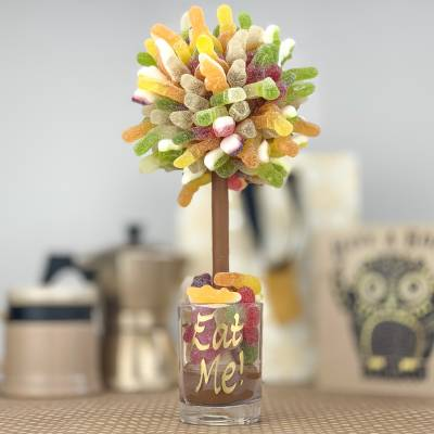 Personalised Fizzy Haribo Funky Sweet Tree 25cm - Haribo Gifts