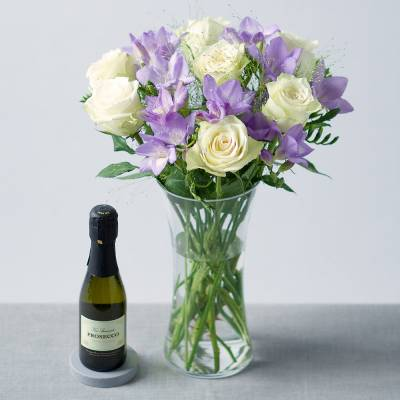 Flowers and Prosecco