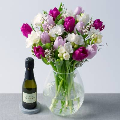 Spring Tulips with Prosecco