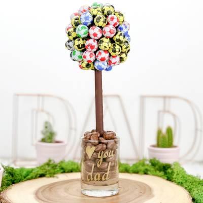 Personalised Football Funky Sweet Tree 25cm - Football Gifts