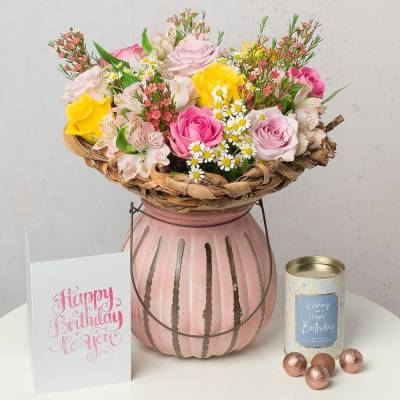 Spring Roses Birthday Gift