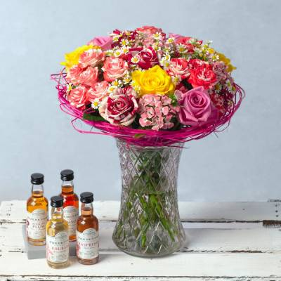 Sweet Rose Gin Gift - Flowers Gifts