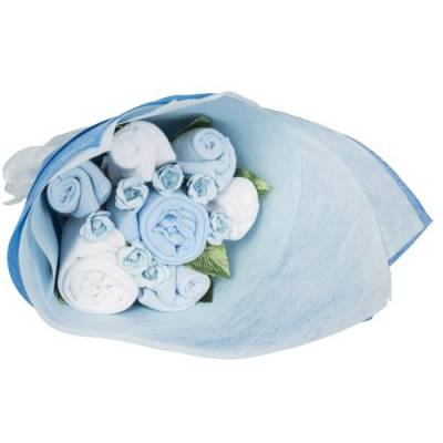 Baby Boy Blue Welcome Bouquet - Baby Boy Gifts