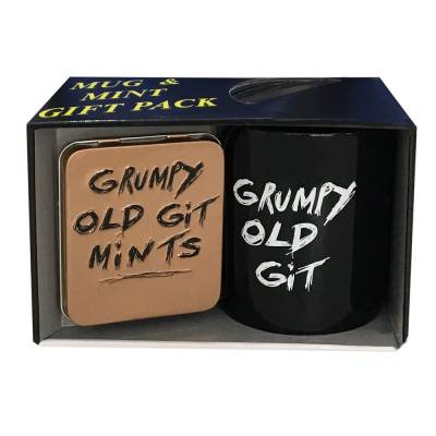 Grumpy Old Git Mug and Mints Set
