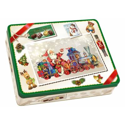 Christmas Chocolate Pralines Tin