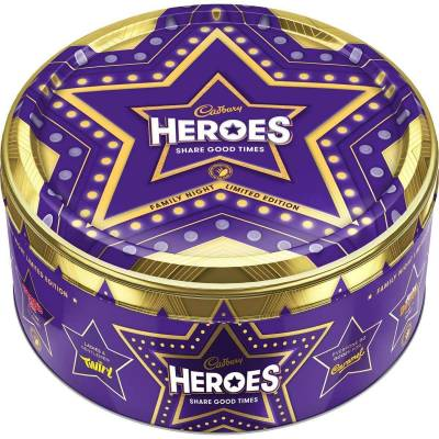 Cadbury Heroes Limited Edition Tin 800g