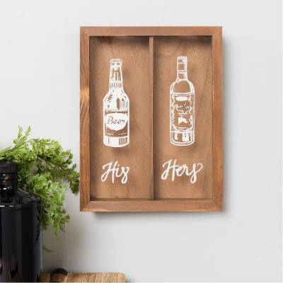 His and Hers Cork and Bottle Stop Storage Box